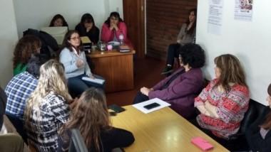 Reunión. Curso de Cartografía Social en Puerto Madryn.