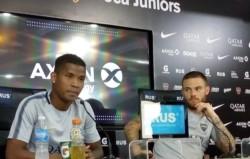 Wilmar Barrios y Nahitan Nández contaron en conferencia de prensa cómo se preparan para la gran final.