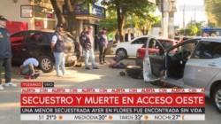 En el cruce de la Colectora de Acceso Oeste y la calle De la Guitarra el Duna de los secuestradores chocó contra otro automóvil.