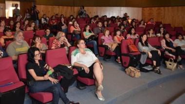 """La actividad se concretó en la tarde del viernes en el auditorio """"Germán Sopeña"""" del Museo Egidio Feruglio."""