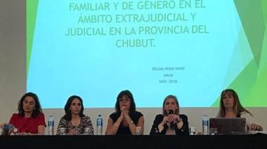 Las doctoras Delma Viani, Adela Juárez Aldazbal, María Marta Nieto, Patricia Reyes y Daniela Patricia Almirón.