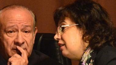 Jueza. La magistrada Monella, en la imagen junto a Enrique Guanziroli, firmó la sentencia por la droga.