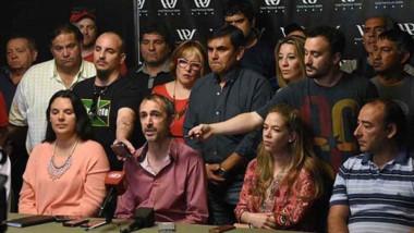 Agradecidos. La Lista Roja explicó sus planes en conferencia de prensa.