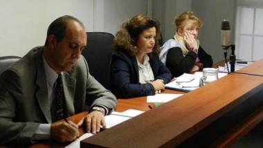 Los jueces Yangüela, Pérez y Asaro en la resolución de la condena.