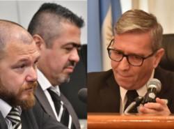 Sumariados. Fiscales Nápoli e Iturrioz, y juez Piñeda.