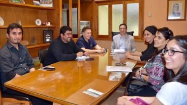 Los responsables de la  Orquesta se reunieron con Adrián Maderna.