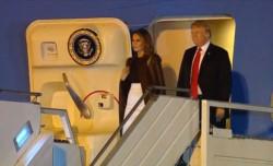 El presidente de Estados Unidos, máximo protagonista durante estos días en Buenos Aires, aterrizó en el país y se dirigió directamente hacia el hotel.