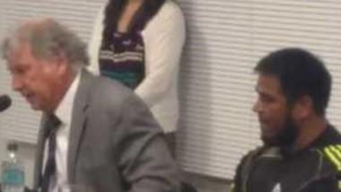 Fabián Gabalachis y Ángel Rodríguez, que estará detenido en su casa.