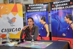 Luciana Aymar brindó una conferencia en la confitería de Bigornia Club.