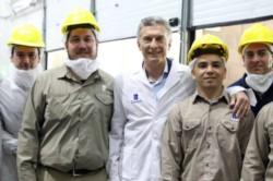 Al llegar al laboratorio Cassará para presentar un sistema de compras, Macri se refirió al