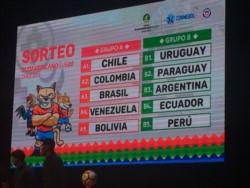 Así quedaron conformados los grupos del Sudamericano 2019.