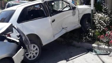 Los daños se registraron en ambos coches, un Ford Ka y un VW Gol.
