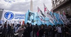 Dina Sánchez, en una movilización colectiva anterior. (foto cortesía Página 12).