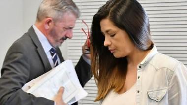 Perfiles. El juez Zaratiegui deja la audiencia tras otorgarle la prisión domiciliaria a Natalia Mac Leod.