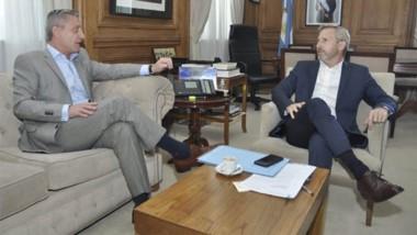 Negociación. El nuevo encuentro entre el gobernador y el ministro Frigerio se dio ayer en Casa Rosada.