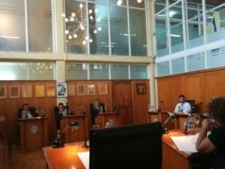 Los concejales volvieron a sesionar este jueves (foto @loreleeming)