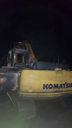 Las maquinas sufrieron graves deterioros (foto Bomberos El Hoyo)