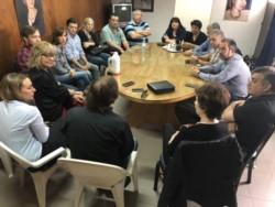 El encuentro se concretó en la sede del PJ (foto @GabiDufour)