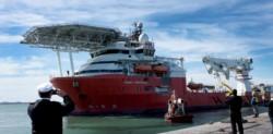 El Seabed Constructor abandonará sus tareas en alta mar el próximo 16 de noviembre y las retomará febrero, ya que el buque deberá volverá al puerto de Comodoro Rivadavia.