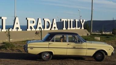 El inicio. Desde Rada Tilly  el auto fue a Ushuaia y desde allí empezaron la travesia
