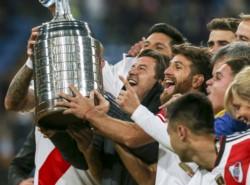 """El  """"Millonario"""" revirtió el marcador adverso en el Santiago Bernabéu y en tiempo suplementario se proclamó por cuarta vez campeón de América."""