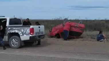El violento accidente por fortuna no derivó en lesiones de carácter grave, según reportó la Policía.