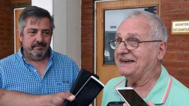 Leon Berlot  junto a Luis Novoa, de la UTN.