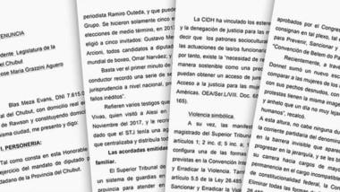 Detalles. La denuncia de Meza Evans tiene 29 páginas y  apunta a los Magistrados del Poder Judicial.