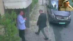 Khashoggi ingresando al consultado saudí en Estambul, su dramático final.