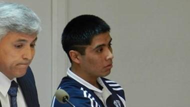 Juan Brian Petrillán cuando fue condenado por apuñalar a su exmujer.