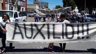 Marcha. El doble crimen en Madryn pone la atención sobre el peligro narco en Chubut.