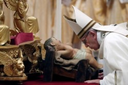 El papa Francisco, en la misa de Gallo: