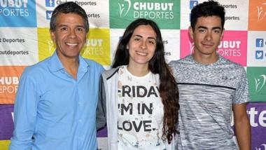 Salma y Nicolás Antorena visitaron las instalaciones de Chubut Deportes, donde le comentaron a David Cárdenas los objetivos para el 2019.