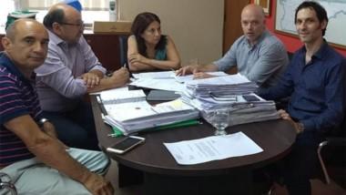 Trabajo. Autoridades del ISSyS y de Salud acordaron el movimiento de dinero para ayudar en la emergencia.