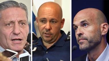 """Cruces. Arcioni (izquierda), Sastre, Dietrich y """"Laly"""" Maza, protagonistas de una decisión nacional que de nuevo golpea a los patagónicos."""