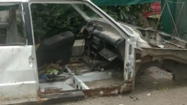 Así lució el auto varios meses después de haber sido robado en Trelew.