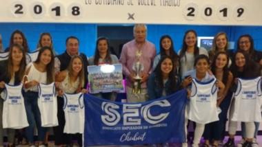 Las jugadoras de Primera Damas del SEC, tuvieron su merecido reconocimiento tras coronarse campeonas.