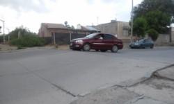 Calle Roca y Cuba de Trelew.