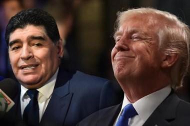 """Maradona llamó """"chirolita"""" a Trump en una entrevista con Telesur."""