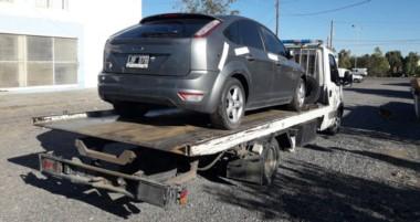 Un auto secuestrado en uno de los allanamientos, relacionado a otra causa por asociación ilícita.