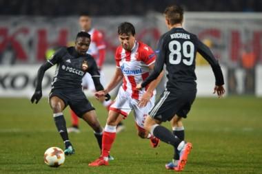 Por la ida de 16avos de final de la Europa League, Estrella Roja igualó 0-0 como local frente al CSKA Moscú.
