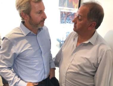 """Linares calificó de """"positivo y productivo"""" el encuentro con Frigerio."""