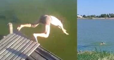 Videos mostraron que existen personas que no conocen los riesgos de bañarse en ese lugar ancestral.