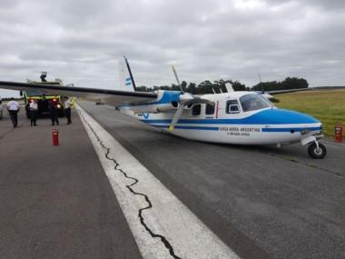 El pésimo estado de la pista provocó el incidente del avión de la Fuerza Aérea.
