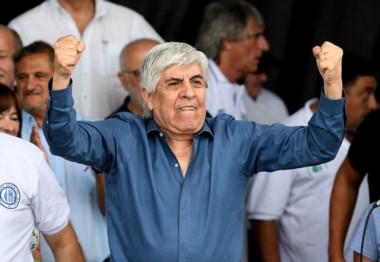 Hugo Moyano les pidió a los manifestantes que no insulten a Mauricio Macri: