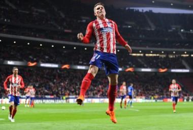 Gameiro anotó el único tanto hoy para el Atlético de Madrid.