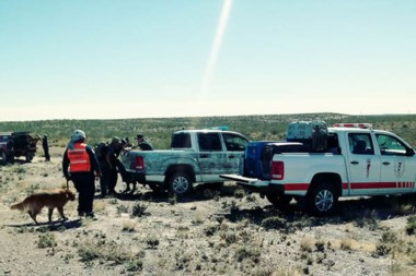 Fuerzas combinadas de Policía del Chubut y unidades Federales se aliaron para buscar la verdad del caso.
