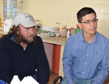 Matías Pelaez y  Oscar Molina, responsables de la tarea realizada.