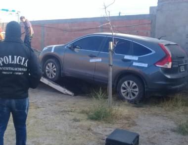 La camioneta Honda CRV sustraida en enero fue encontrada ayer.