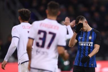 Inter no logra salir de la mala racha y ya leva 10 partidos sin ganar.